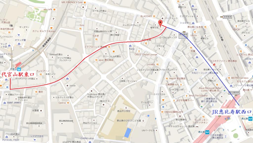 あげパンカフェの道案内地図